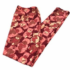 LuLaRoe TC Leggings Valentines Bears